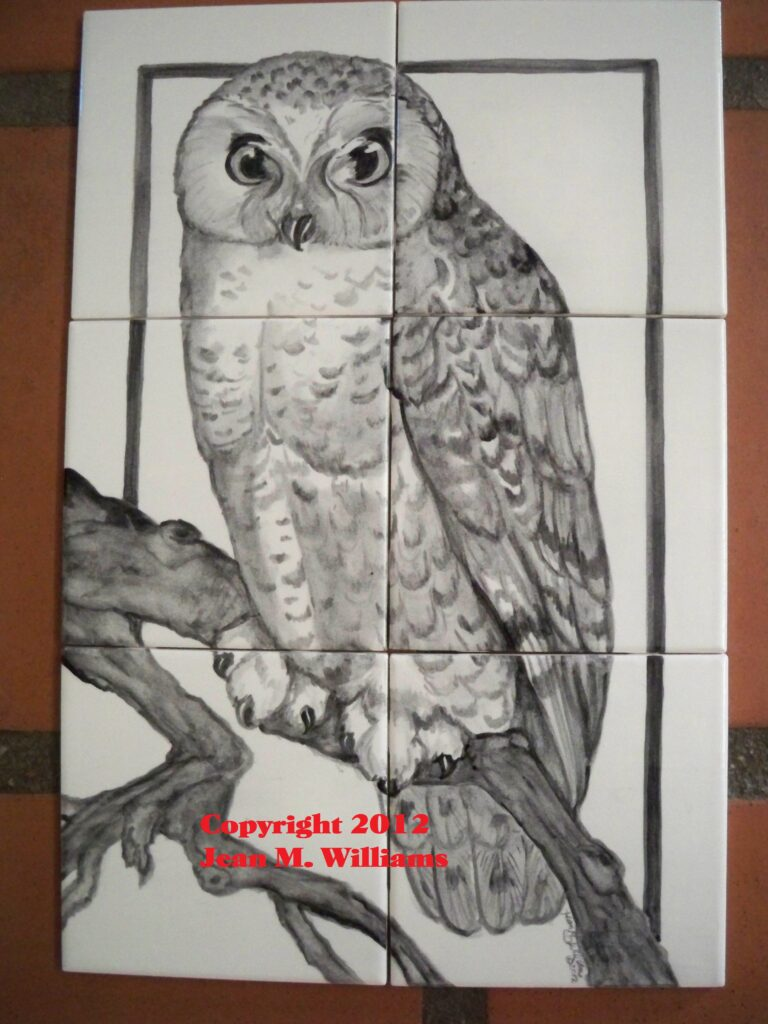 tuzi williams, owl, tile