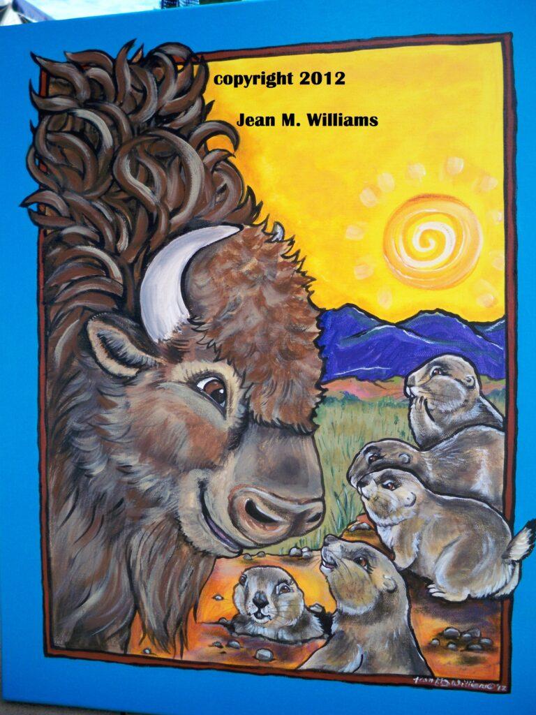 tuzi williams, buffalo, bison, prairie dog