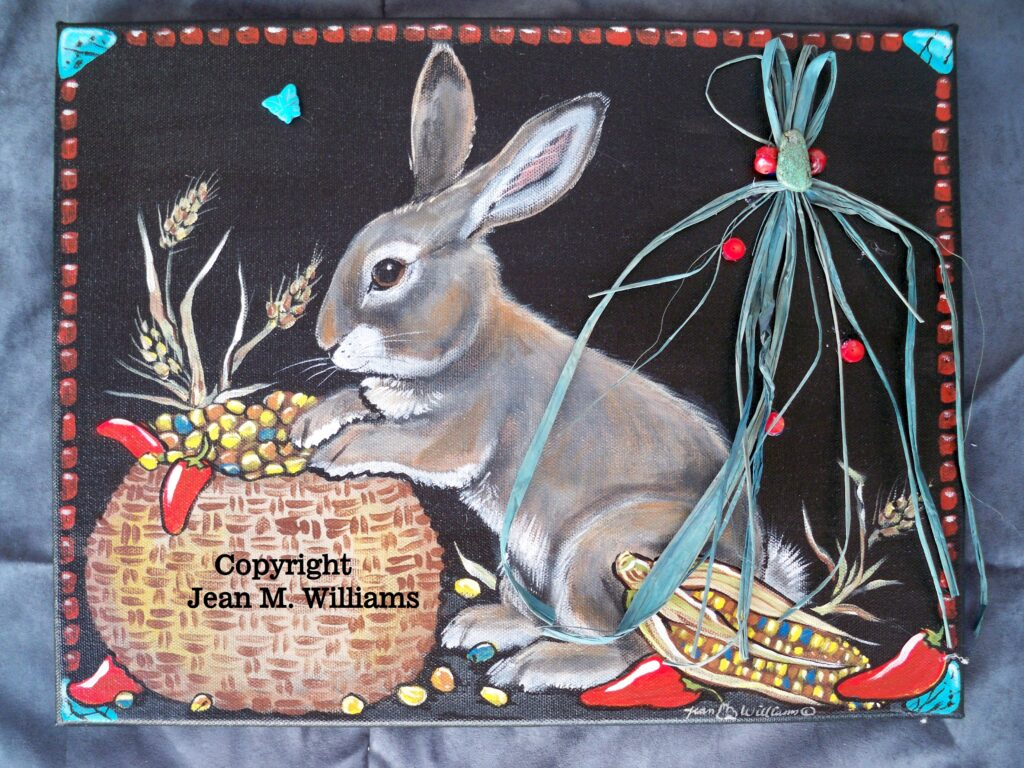tuzi williams, painting, rabbit
