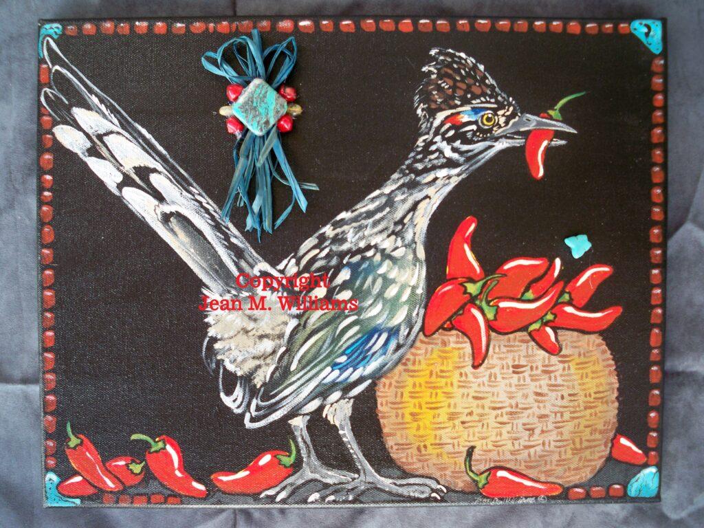 tuzi williams, painting, art, roadrunner