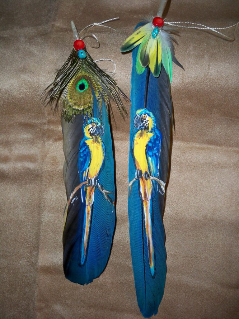tuzi williams, feather, art, macaw