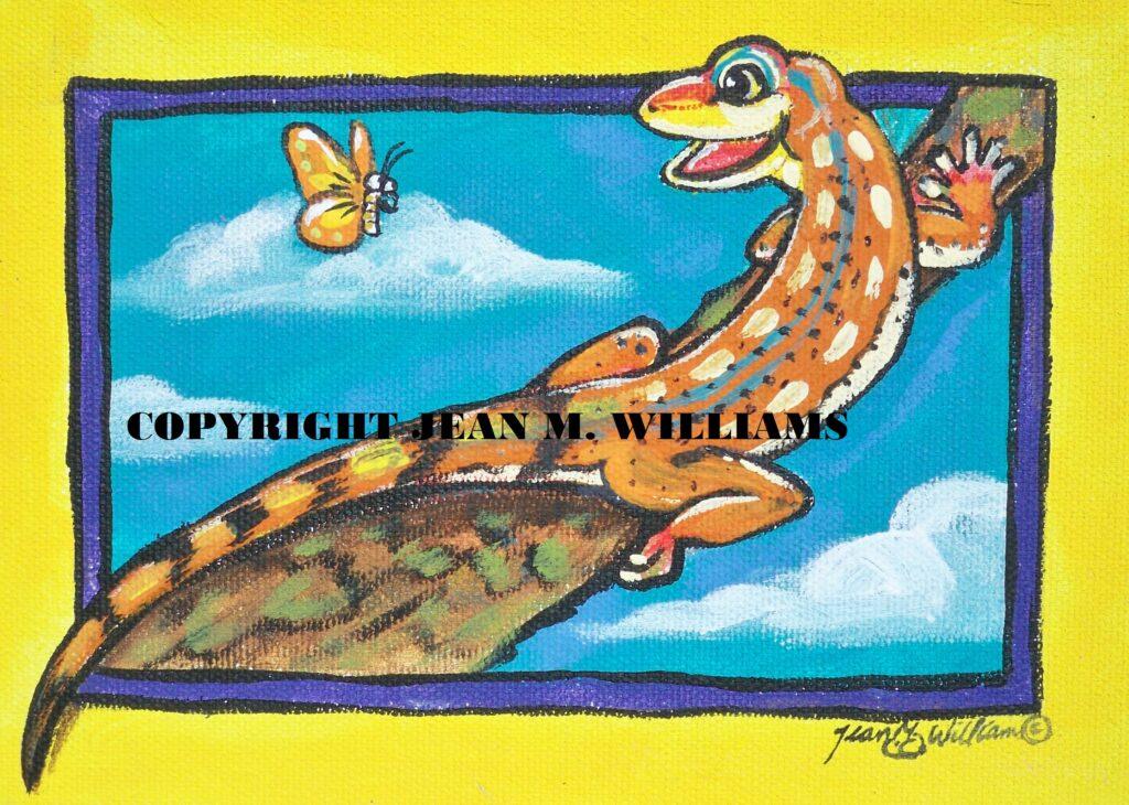 tuzi williams, lizard,art