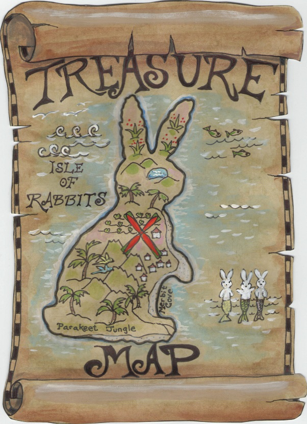 treasure map, captain jack rabbit, tuzi williams