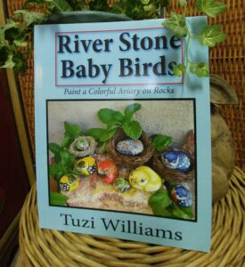 river stone baby birds, painted rocks, painted stones, tuzi williams, birds