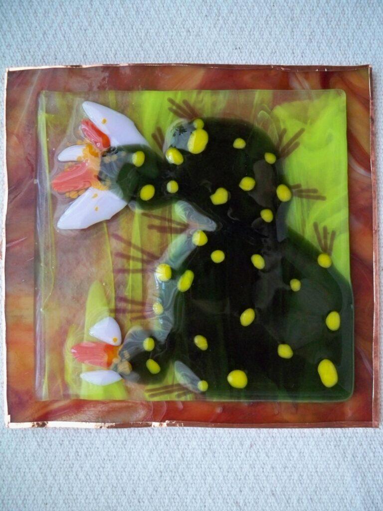 tuzi williams, art glass, cactus