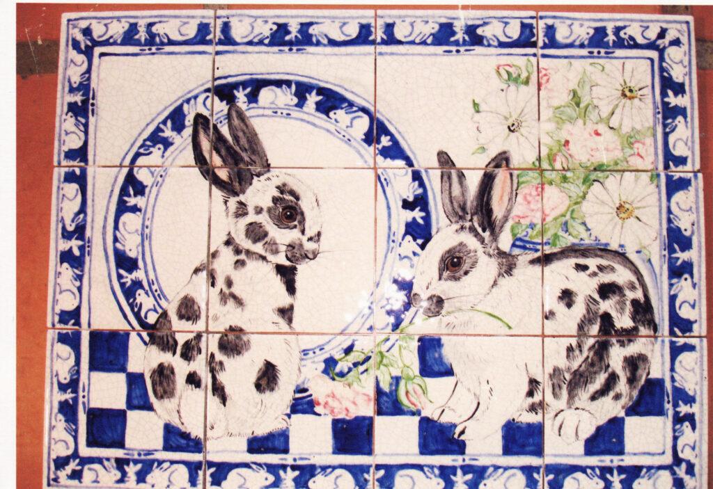 tuzi williams, rabbit, tile