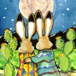 snuggle bunny rabbit moon