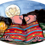 pigs romance blanket camping southwest